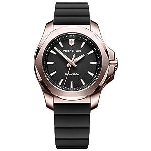 Victorinox INOX Reloj para Mujer Analógico de Cuarzo con Brazalete de Goma V241808