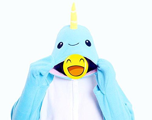 Re-Miss Narwal Cosplay Pyjamas Schlafende Kleidung Kigurumi fuer Fancy Dress & Periode Kostüme Halloween Weihnachten (Halloween Kostüme Periode)