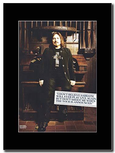 lack Sabbath - Geezer Bulter - Magazin Promo-Artwork auf Einer schwarzen Halterung - Matted Mounted Magazine Promotional Artwork on a Black Mount ()