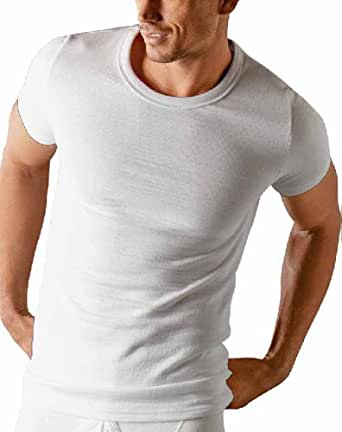 Classic Mens Thermal Short Sleeve T Shirt Vest Underwear Small Blue