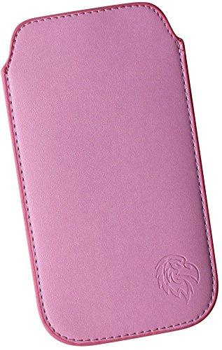 Iphone 3g Adler (Schutz-Tasche mit Adler für Apple iPhone 2, 3 G und 3 GS, Pull-tab Handy-Huelle herausziehbar, Etui genaeht mit Rausziehband, duennes Cover mit exklusivem Motiv Adler XS Rosa)