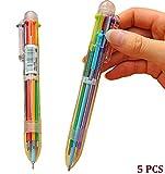Cdet 5PCS Multi-fonctions presser le stylo à bille couleur Couleurs variées crayons stylo à bille Stylos Stylo gel bricolage cadeaux étudiants Cadeau enfant pour l'écriture de dessin