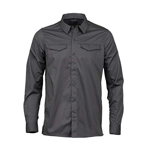 Magpul Herren Button-up Work Shirt Long Sleeve Langärmelig, New Charcoal, X-Large - Poly-baumwolle-utility Shirt