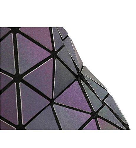 Sacchetti Luminosi A Tracolla Traspirante Borsa Luminosa Tote Donna,Black(matt) LuminousColor