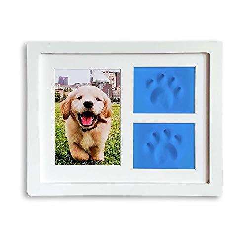 QNMM Haustier Haustiere Pfotenabdrücke Andenken Fotorahmen Memorial Clay Impressum Kit Für Hunde Und Katzen Perfekt Für Tierfreunde Wandhalterung Pet Photo Frame -