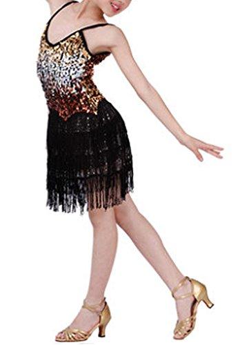 [Glanz] Mode Latin Dance Kostüme Mädchen Latein Kostüm Leistung Kleid (Designer Kostüme Latin)