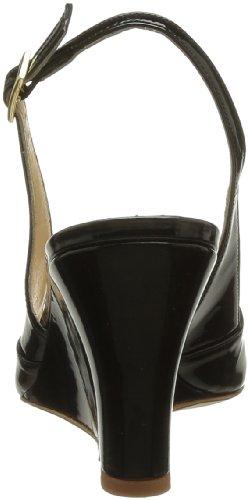 Atelier Mercadal Marie Laure Compense Basse 7737, Sandales femme Noir (Vernis Noir)