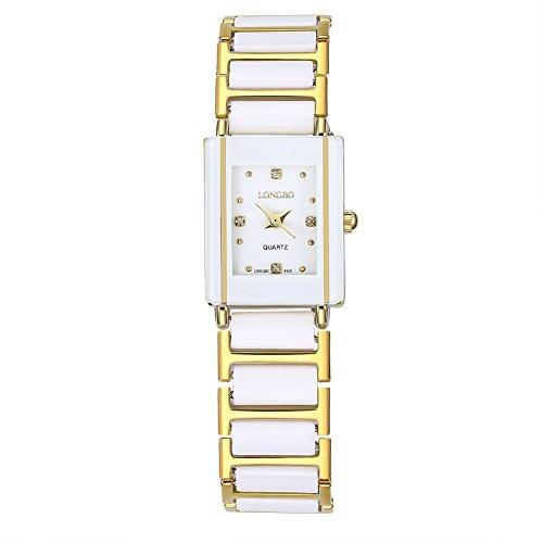 Faysting EU orologio da polso orologio al quarzo con acciaio oro corda quadrante piazza forma oro fashion stile