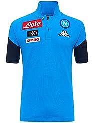 2017–2018Napoli algodón Polo camisa (cielo Azul), Azul