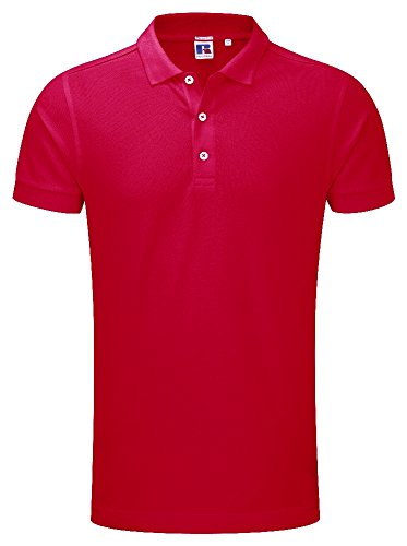 Russell 566M - Herren Piqué Stretch Polo Classic Red