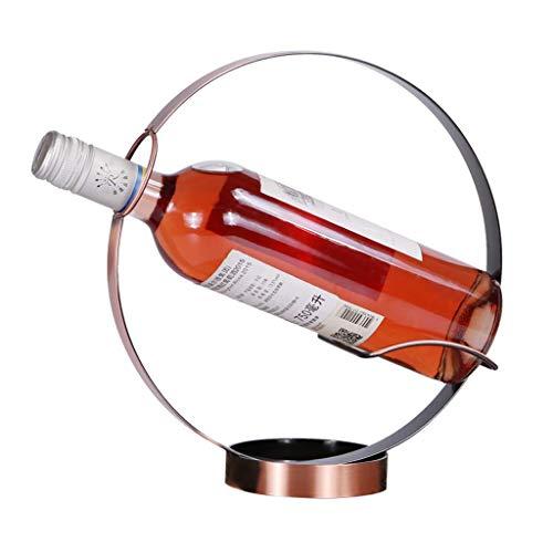 HhGold Moderne Weinregal-Dekorations-Wein-Flaschen-Wohnzimmer-Kabinett-runde Dekoration -