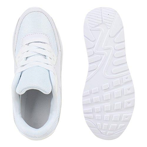 Kinder Sportschuhe Profilsohle Laufschuhe Bequem Schnürer Weiß