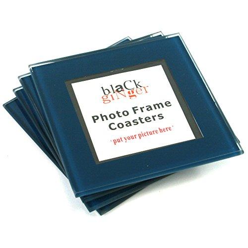 sierbar blau Glas Untersetzer mit Platz für Fotos (Individuelle Foto-untersetzer)