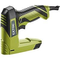 Extol Craft eléctrico dispositivo grapas y clavos, 60los golpes/min, 45W, 110unidades Magazin, grapas y clavos de 6–14mm, 1pieza, Verde, 420101