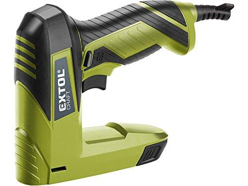 Extol Craft Elektrisches Klammer-/Nagelgerät, 60 Schläge/min, 45 W, 110-er Magazin, Klammern und Nägel 6-14 mm, 1 Stück, grün, 420101