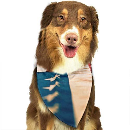 deyhfef USA Flag Kerchief/Fashion Dog Cat ()