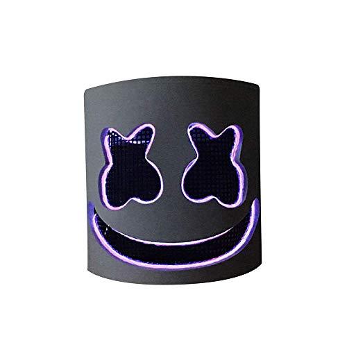 Máscara de Marshmallow, máscara electrónica de DJ, máscara de fiesta para Halloween, máscara de DJ, máscara de terror y zombie para baile de graduación