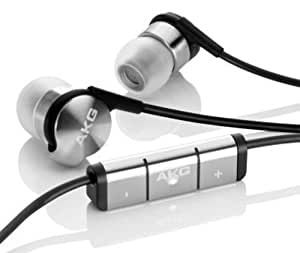 AKG K3003i Professional True 3-Way Reference Quality Hybrid Technology In-Ear Headphones with Integrated Microphone/Remote and Flight Adapter Compatible with Apple iOS Smartphones - Silver