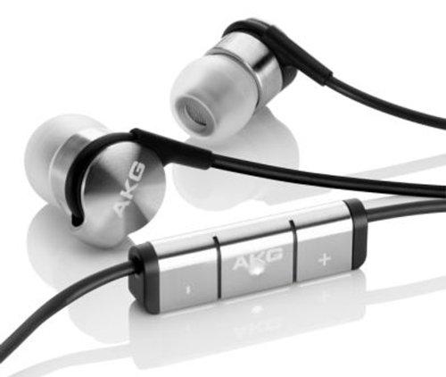 AKG K3003i True 3-Wege Hybrid Ohrhörer In-Ear Kopfhörer mit AKG-Referenzklang, Integrierter In-Line Fernbedienung und Mikrofon Kompatibel mit Apple iOS Smartphones und Geräten - Silber