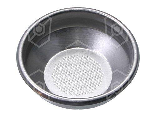 Kaffeesieb mit Lochung ø 0,4mm Kaffeemenge 7g 1 Tassen passend für Cookmax für Kaffeemaschine ø 70mm Höhe 24,5mm Einbau ø 60,5mm