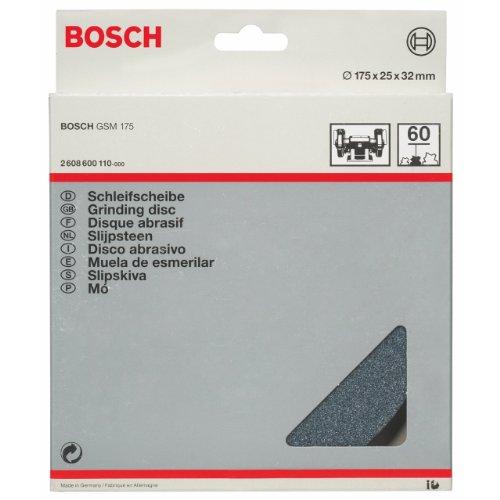 Bosch Zubehör 2608600110 Schleifscheibe für Doppelschleifmaschine 175 mm, 32 mm, 60