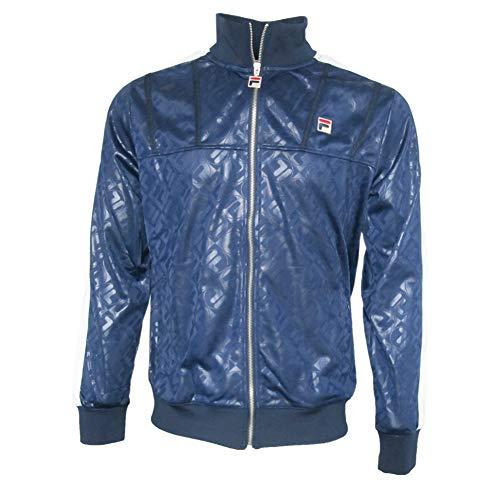 Fila Vintage Herren Palmer AOP Trichter Track Top, Blau, X-Large Mens Funnel Neck Jacket
