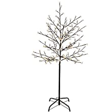 WeRChristmas 5ft Pre-Lit 200 LED Illuminated Cherry Blossom Tree