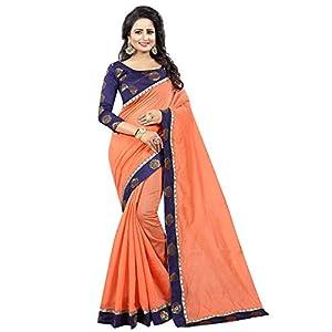 D.C. Women's Bhagalpuri Cotton Silk Saree With Blouse Piece