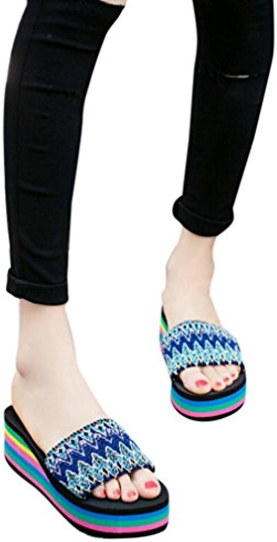 Sandalias mujer, ❤️ Manadlian Mujer Zapatos de playa Estilo Nacional Sandalias de verano Bajo techo, en exteriores...