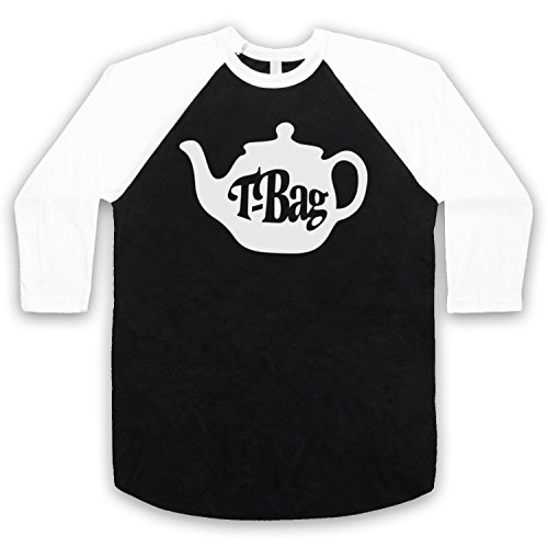 The Guns Of Brixton T-Bag 80's Kids TV Show Logo 3/4 Manches Retro T-Shirt de Base-Ball
