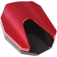 B Blesiya Almohadilla de Extensión de Soporte Lateral para Pie Aluminio Para Honda PCX - rojo