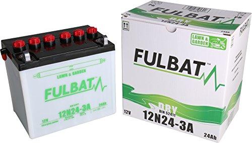 12N24-3A, DIN 52411, DRY Fulbat Batterie, Rasentraktor, Aufsitzmäher, LxBxH: 184x124x175 mm