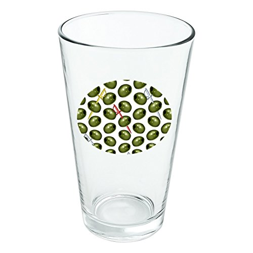 Martini grün oliv Muster Neuheit Klauenhammer, Pint Trinken aus Hartglas