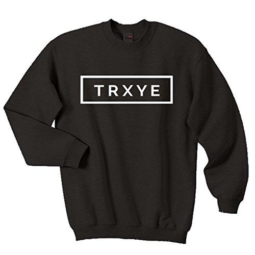 Top Quality trxye Felpa Troye Sivan Happy Little Pill Jumper Black S/91 cm