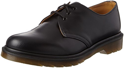 Dr. Martens 1461 Scarpe basse stringate, Unisex, Adulto, Nero (Black Smooth Pw), 38