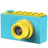 Kriogor Fotocamere Digitali per Bambini, Macchina Fotografica Bambini Videocamera Zoom Digitale con 1080P HD /8 Megapixel/ 2 Pollici LCD/ Zoom Digitale 4X/ Scheda TF da 256M (Blu)