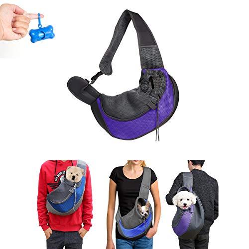 Katzerucksack Tragen Schultertasche Outdoor Tragbar Laufen Reisen Weich Atmungsaktiv Größe Verstellbar Haustier Brusttasche Geeignet für kleine Haustiere. (S, Blau) ()