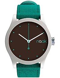 Turquoise Island - Reloj unisex con correa de lona intercambiable.