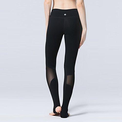 Binhee Femmes Fil Net Couture Fitness Courir Un Yoga Serré Danse Pantalons Noir