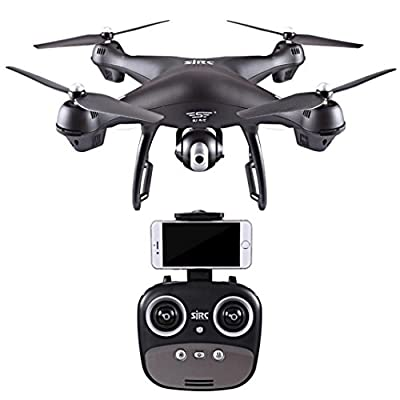 Lanspo Aircraft, model aircraft, drone, S70W 2.4GHz GPS FPV drone Quadcopter and 1080P HD camera Wifi headless mode Camera adjustable angle aircraft (double battery) by Lanspo