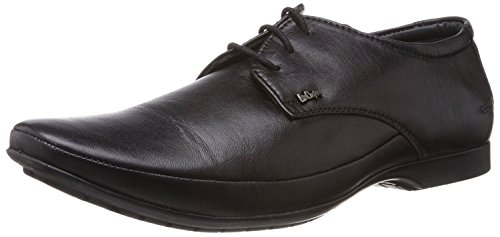 Lee Cooper Men's Black Leather Formal Shoes (LC9255_BLACKP1_43) - 9 UK