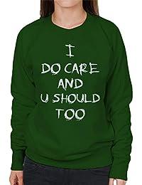 Coto7 Care And So U Should Too Jenna Ortega Melania Trump Women s Sweatshirt 99a74abec2ad