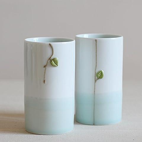 Creative tazza personalizzata minimalista con coperchio, cucchiaio mug tazza di tazze da caffè tazze (Personalizzata Cucchiaio Da Bambino)