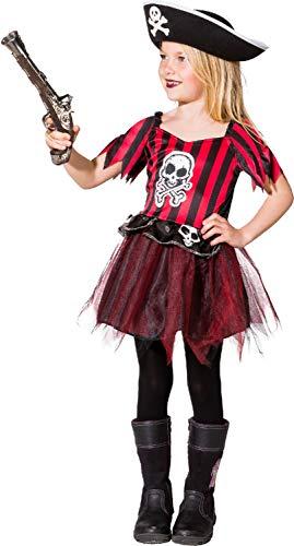 (Fancy Me Mädchen Totenkopf Pirat Tutu Sieben Seen Karibik Prinzessin TV Film Weltbuch Tag Woche Karneval Kostüm Outfit)