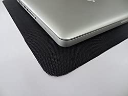 LAPTOP GRIP / Black - Anti-scratch, Heat Resistant, Easy to move grip mats for laptops, Suits 14-16 inch laptops