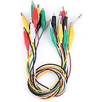 CTlite - 10 cables de prueba con pinza de cocodrilo para cables de puente de 50 cm para proyectos Arduino y Raspberry Piezas