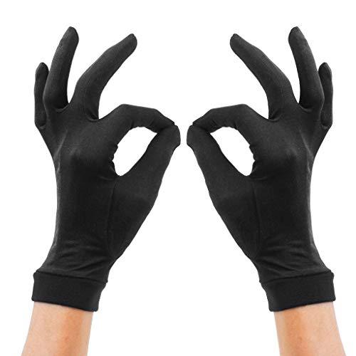 TAOtTAO Hautpflegehandschuhe aus doppelter Seide aus Seide Jasmine Gloves Thermo-Liner-Handschuh-Innenhandschuh-Fahrradhandschuhe
