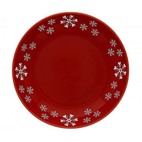 TABLE&COOK Lot de 6 Assiettes Creuses 22,5 cm Coeur Flocons
