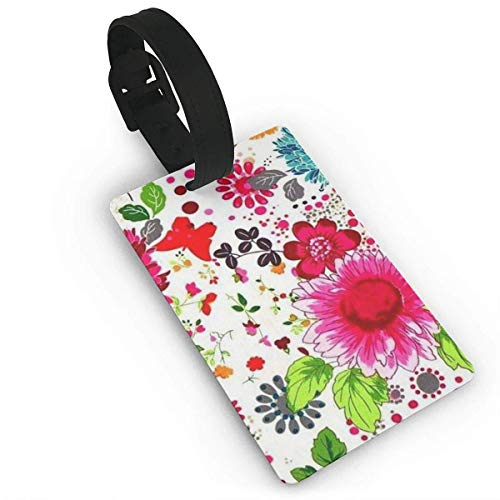 Ewtretr Gepäckanhänger for Travel Yard Floral Butterfly Luggage Bag Tags Travel ID Identification Labels Set for Bags & Baggage -