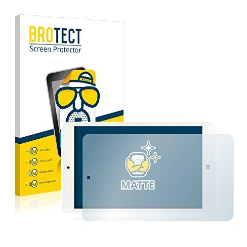 BROTECT Entspiegelungs-Schutzfolie kompatibel mit i.onik TW 8 (2 Stück) - Anti-Reflex, Matt